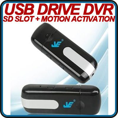 USB DRIVE DVR Hidden Spy Camera Video Cam Motion