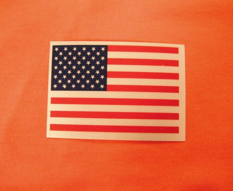 Reflective AMERICAN FLAG 3x2 Sticker Decal