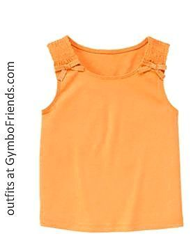 Gymboree NWT POPSICLE PARTY ORANGE SMOCKED BOW TANK TOP
